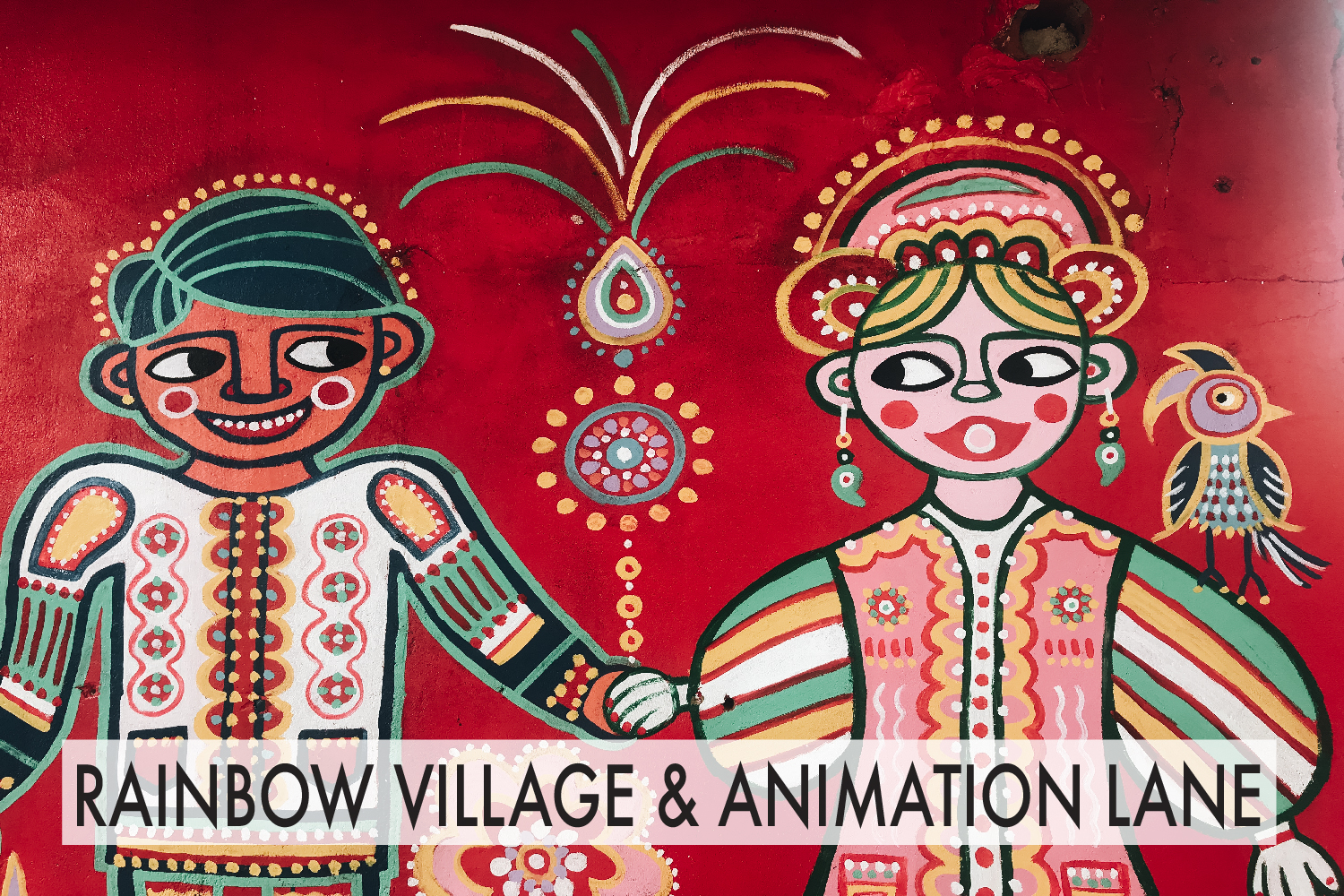 Rainbow Village and Animation Lane, Taichung Taiwan